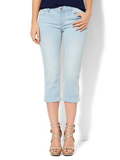 Soho Jeans - Curvy Crop - White Wash Blue   - New York & Company