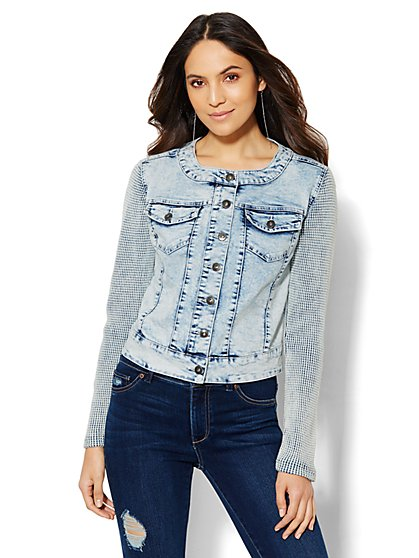 Soho Jeans - Denim Jacket - Light Acid Wash  - New York & Company
