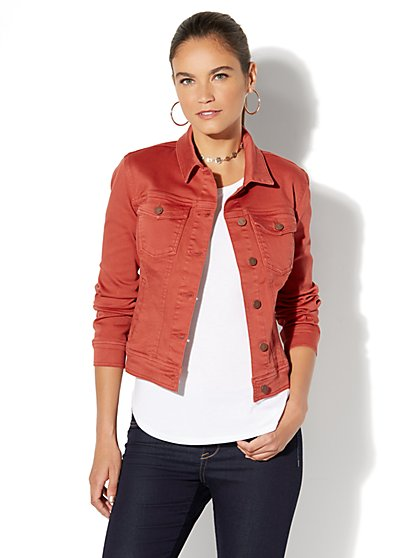 Soho Jeans - Denim Jacket - Red Spice - New York & Company