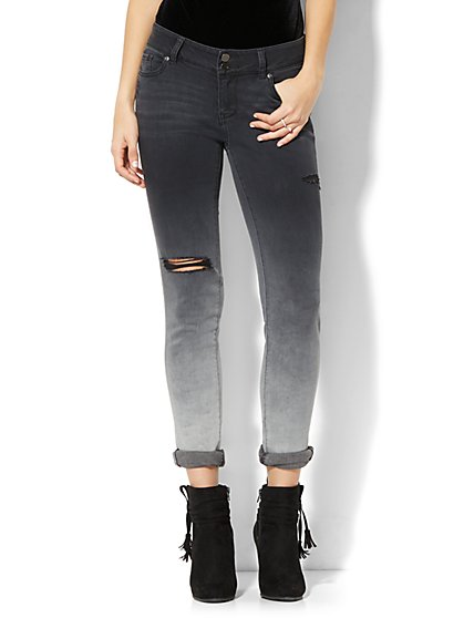 Soho Jeans - Destroyed Boyfriend - Black Ombré Wash - New York & Company