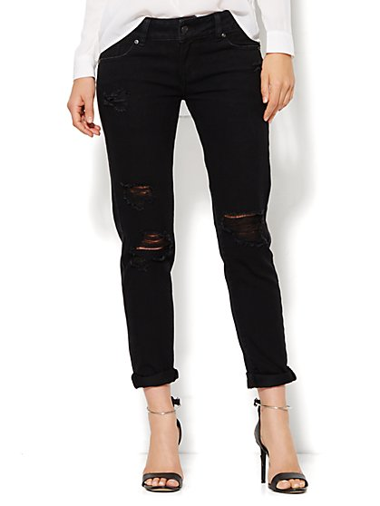 Soho Jeans - Destroyed Boyfriend - Black  - New York & Company