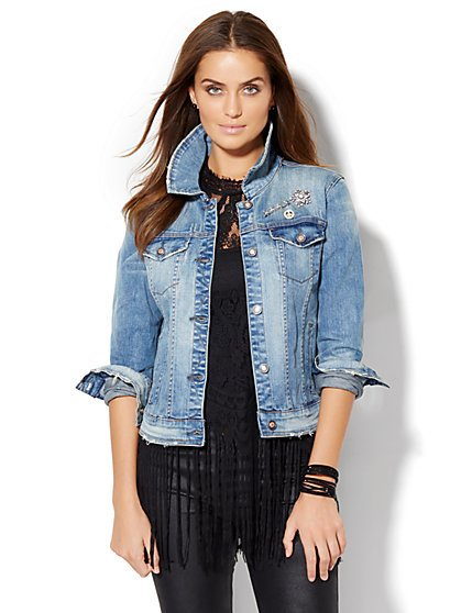 Soho Jeans - Destroyed Denim Jacket  - New York & Company