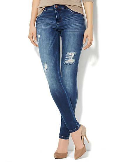 Soho Jeans Destroyed Legging - Average - New York & Company