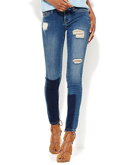 Soho Jeans - Destroyed Legging - Howling Blue Wash  - New York & Company