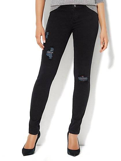 Soho Jeans Destroyed Legging  - New York & Company