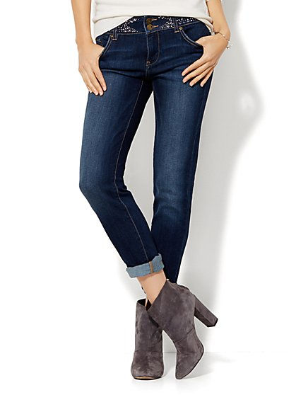 Soho Jeans - Embellished Boyfriend - Serene Blue Wash  - New York & Company