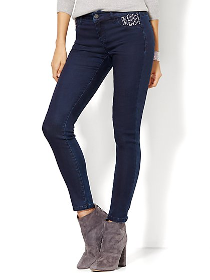 Soho Jeans - Embellished Legging - Rinse  - New York & Company