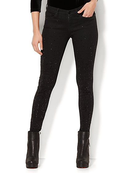Soho Jeans -  Embellished Skinny - Black - New York & Company