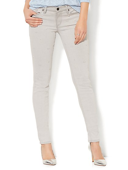 Soho Jeans - Embellished Skinny - Grey Stunner - New York & Company