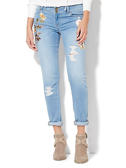 Soho Jeans - Embroidered Boyfriend  - New York & Company