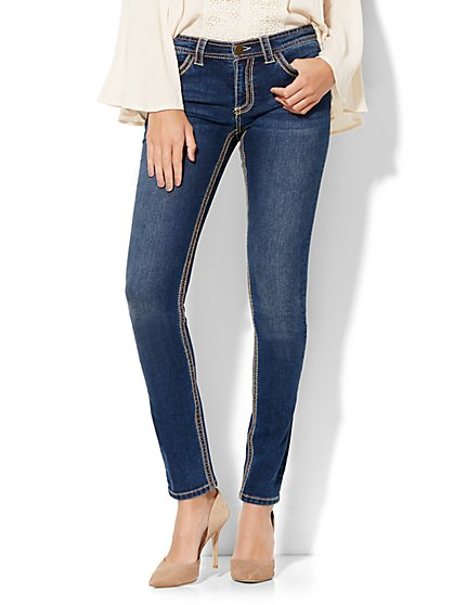 Soho Jeans - Embroidered & Embellished Skinny - Dark Tide Wash  - New York & Company