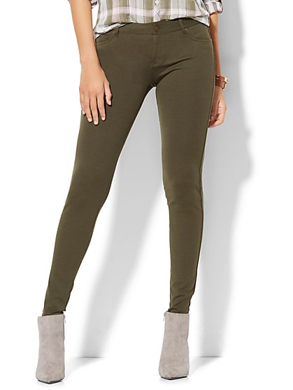 Soho Jeans - Five-Pocket Legging - Ponte  - New York & Company