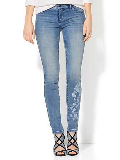 Soho Jeans - Floral Legging - Blue Lotus Wash - New York & Company