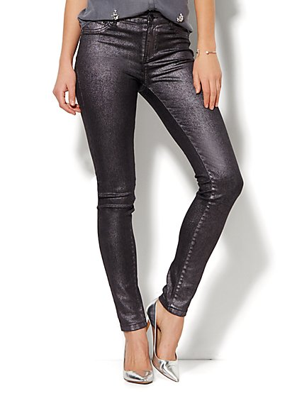Soho Jeans - Glitter Legging - Grey Twilight  - New York & Company
