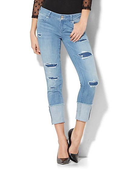 Soho Jeans - High Cuff Boyfriend - Rip & Repair - New York & Company