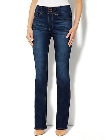 Soho Jeans High-Rise Bootcut - Dark Tide Wash - Petite - New York & Company