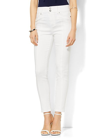 Soho Jeans - High-Waist Ankle Legging - Optic White  - New York & Company