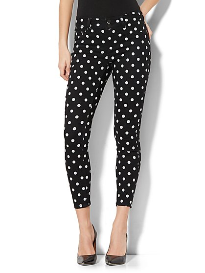 Soho Jeans - High-Waist Ankle Legging - Polka-Dot Print - New York & Company