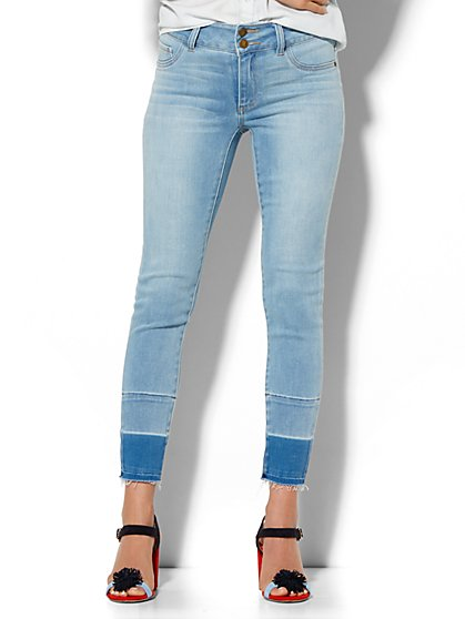 Soho Jeans - High-Waist Ankle Legging - Released Hem  - New York & Company