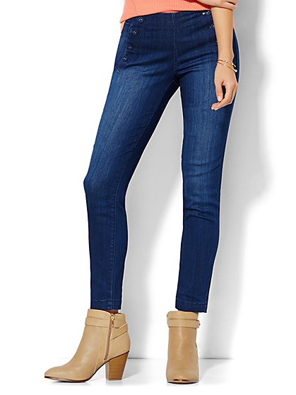 Soho Jeans - High-Waist Ankle Legging - Sailor - Theatrical Blue Wash  - New York & Company