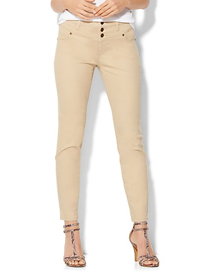 Soho Jeans High-Waist Ankle SuperStretch Legging - Hazelnut Latte  - New York & Company