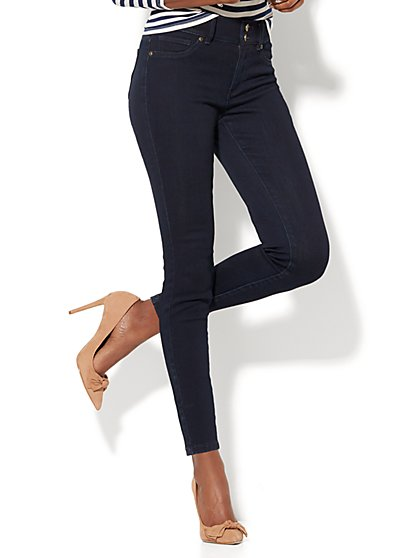 Soho Jeans - High-Waist Curvy Ankle Legging - Dark Midnight Wash - New York & Company