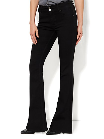 Soho Jeans - High-Waist Flare - Black - New York & Company