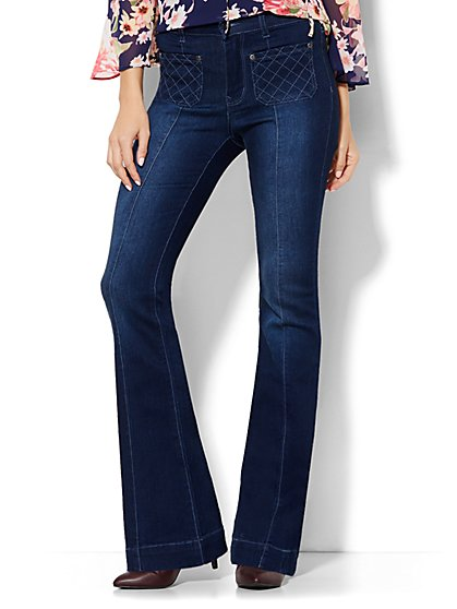 Soho Jeans - High-Waist Flare - Dark Tide Wash  - New York & Company