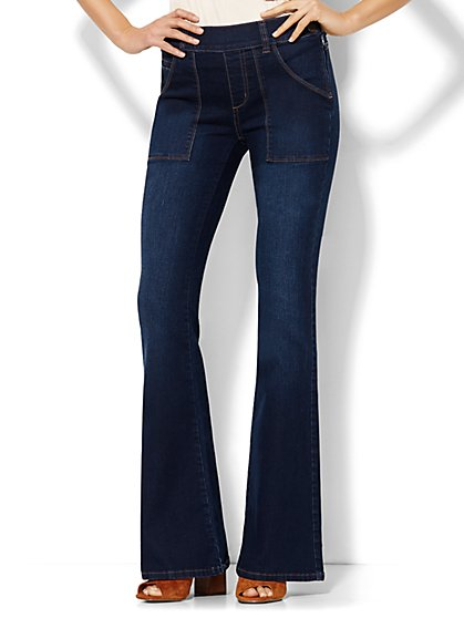 Soho Jeans - High-Waist Flare - Highland Blue Wash  - New York & Company