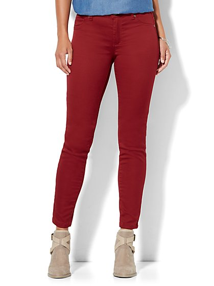 Soho Jeans High-Waist Legging - Berry Crush  - New York & Company