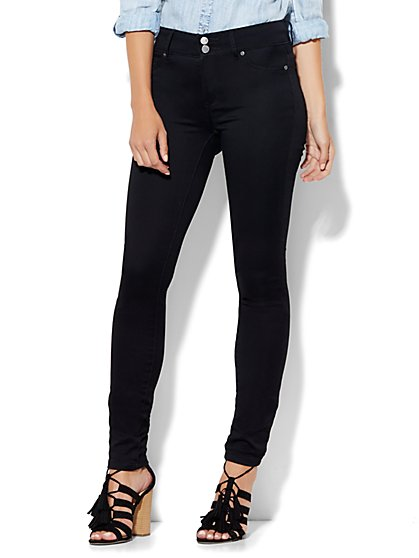 Soho Jeans High-Waist Legging - Black  - New York & Company