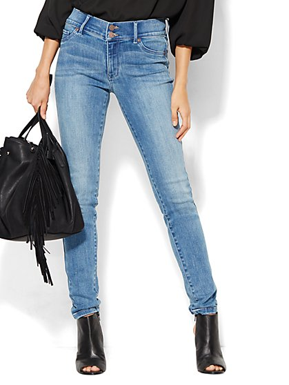 Soho Jeans - High-Waist Legging - Blue Mink Wash  - New York & Company