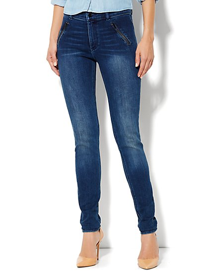 Soho Jeans High-Waist Legging - Blue Wash - Average - New York & Company