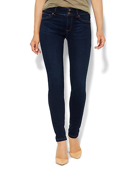 Soho Jeans High-Waist Legging - Highland Blue Wash  - New York & Company