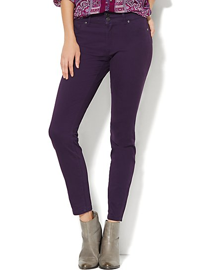 Soho Jeans - High-Waist Legging - Purist Purple - New York & Company