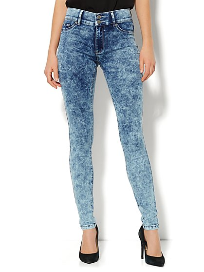 Soho Jeans - High-Waist Legging - Snowstorm Blue Wash  - New York & Company