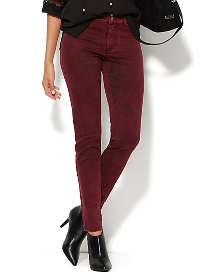 Soho Jeans - High-Waist Legging - Stoplight Red - New York & Company