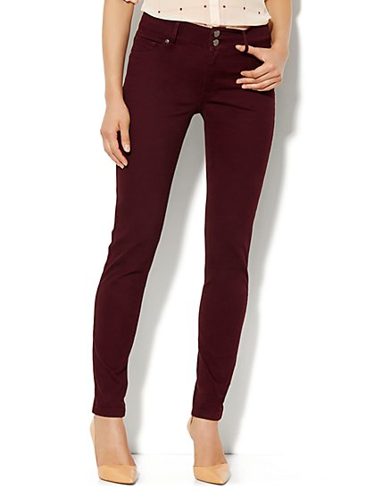 Soho Jeans High-Waist Legging - True Burgundy - New York & Company