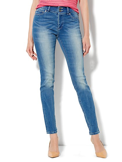 Soho Jeans High-Waist Legging - Wild Blue Wash
