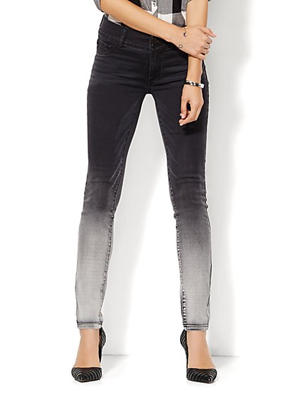 Soho Jeans - High-Waist Ombre Legging - Starling Grey Wash  - New York & Company