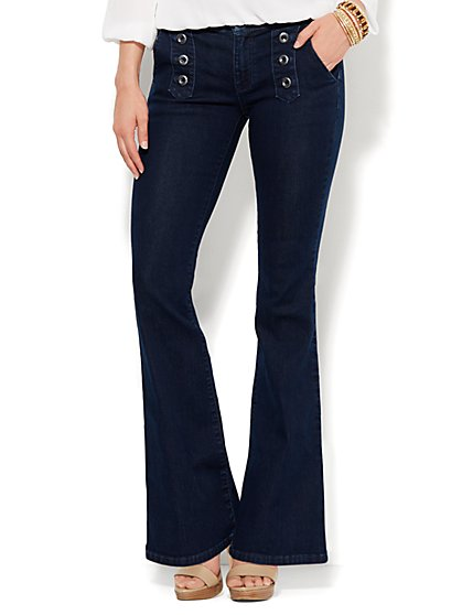 Soho Jeans - High-Waist Sailor Flare - Theatrical Blue Wash  - New York & Company