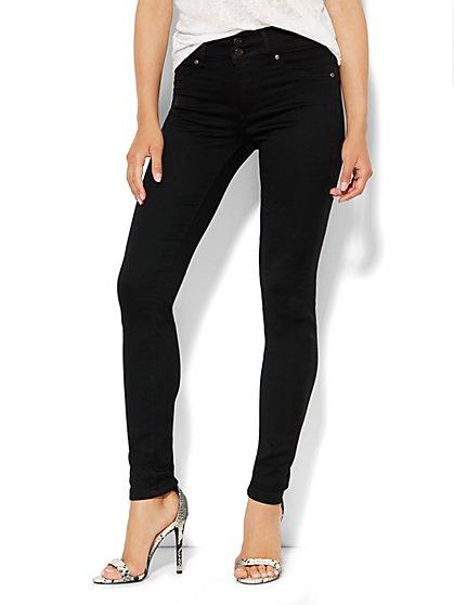 Soho Jeans - High-Waist SuperStretch Legging - Black - Petite - New York & Company