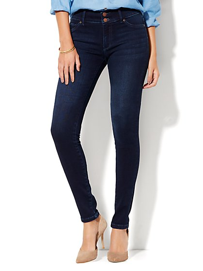 Soho Jeans - High-Waist SuperStretch Legging - Endless Blue Wash - Petite - New York & Company