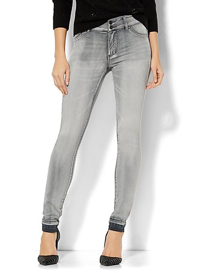 Soho Jeans - High-Waist SuperStretch Legging - Grey  - New York & Company