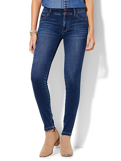 Soho Jeans - High-Waist SuperStretch Legging - Polished Blue Wash - Petite - New York & Company