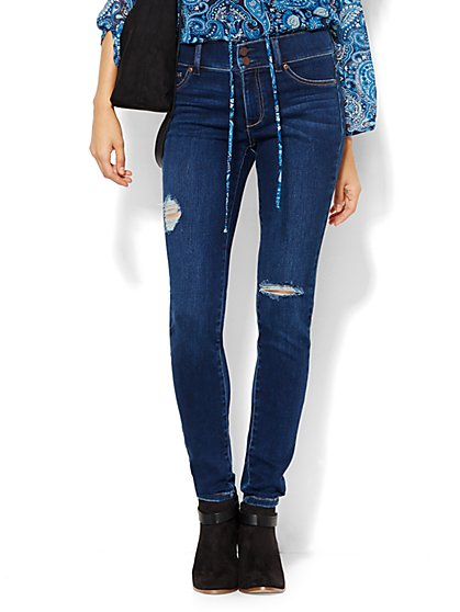 Soho Jeans - High-Waist SuperStretch Legging - Polished Blue Wash - New York & Company