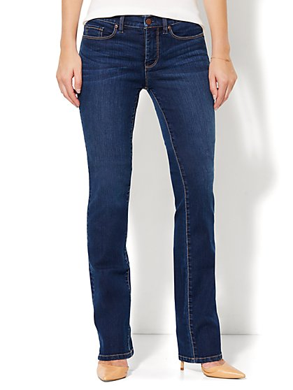Soho Jeans - Instantly Slimming - Bootcut - Polished Blue Wash - Tall - New York & Company