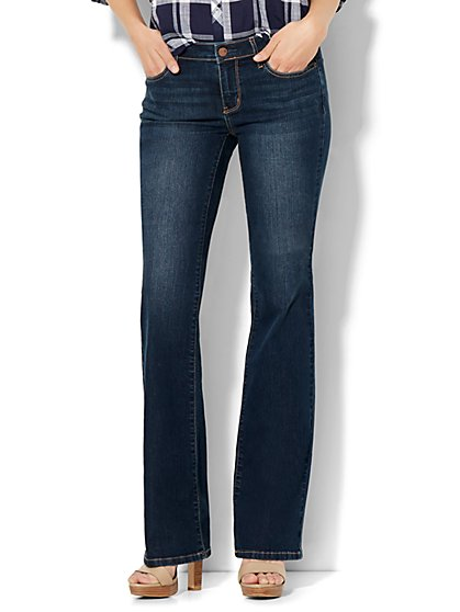 Soho Jeans - Instantly Slimming - Curvy Bootcut - Flawless Blue Wash - Petite  - New York & Company