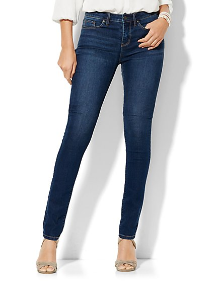 Soho Jeans - Instantly Slimming - High-Waist Skinny - Dark Tide Wash - Petite  - New York & Company