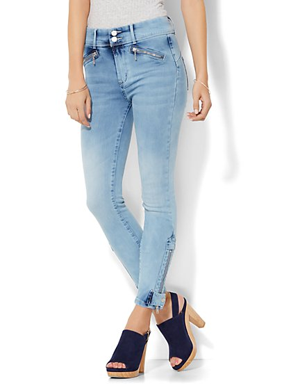 Soho Jeans - Jennifer Hudson Ankle Legging - Blue Sunshine Wash  - New York & Company